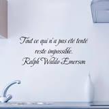 Tout ce qui n a pas ete tente reste impossible Vinilo decorativo por Ralph Waldo Emerson