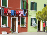 Corte Novello on Burano Island, Venice, Veneto, Italy, Europe Photographic Print by Richard Cummins