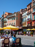 Restaurants Along Waterfront, Villefranche, Alpes-Maritimes, Provence-Alpes-Cote D'Azur, France Photographic Print by Adina Tovy