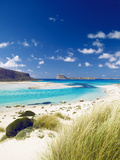 Balos Bay and Gramvousa, Chania, Crete, Greek Islands, Greece, Europe Fotografisk tryk af Sakis Papadopoulos
