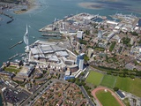 Aerial View of the Spinnaker Tower and Gunwharf Quays, Portsmouth, Hampshire, England, UK, Europe Photographic Print by Peter Barritt