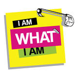 I Am What I Am Kalkomania ścienna