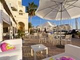 Bar at Queensway Quay Marina, Gibraltar, Mediterranean, Europe Photographic Print by Giles Bracher