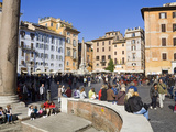 Pantheon and Piazza della Rotonda, Rome, Lazio, Italy, Europe Photographic Print by Richard Cummins