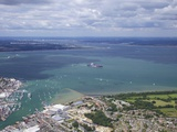 Aerial View of Cowes and the Solent, Isle of Wight, England, United Kingdom, Europe Photographic Print by Peter Barritt