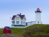 Cape Neddick (The Nubble) Lighthouse, Cape Neddick, Maine, New England, USA, North America Fotodruck von Alan Copson