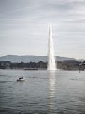 Jet D'Eau, Lake Geneva, Geneva, Switzerland, Europe Photographic Print by Matthew Frost