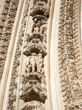 Carving Details over the West Door at York Minster, York, Yorkshire, England Photographic Print by Mark Sunderland