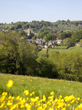View over Village and Church, Ashover, Derbyshire, England, United Kingdom, Europe Photographic Print by Frank Fell