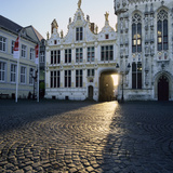 Burg Square and Town Hall, Bruges, UNESCO World Heritage Site, West Vlaanderen (Flanders), Belgium Photographic Print by Stuart Black