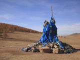 A Mongolian Prayer Mound (Ovoo), Mongolia, Central Asia, Asia Photographic Print by Stuart Keasley