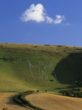 Long Man of Wilmington Chalk Figure, Wilmington, East Sussex, England, United Kingdom, Europe Photographic Print by Stuart Black