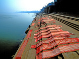 Dhobi Ghat, Varanasi, Uttar Pradesh, India, Asia Photographic Print by  Godong