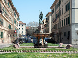 Neptune and the Nereids Fountain, Piazza Modigliani, Livorno, Tuscany, Italy, Europe Photographic Print by Adina Tovy