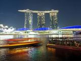Marina Bay Sands, Marina Bay, Singapore, Southeast Asia, Asia Photographic Print by Gavin Hellier