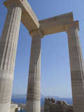 The Acropolis of Lindos, Rhodes, Dodecanese, Greek Islands, Greece, Europe Photographic Print by Oliviero Olivieri