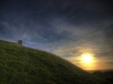 Sunset on Glastonbury Tor, Somerset, England, United Kingdom, Europe Photographic Print by Sara Erith