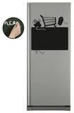 Refrigerateur Course - Ardoise - Duvar Çıkartması