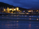 River Conwy Estuary and Medieval Castle, UNESCO World Heritage Site, Gwynedd, North Wales, UK Photographic Print by Peter Barritt