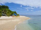 White Sand Beach at Hideaway Island Near Port Vila, Island of Efate, Vanuatu, South Pacific Photographic Print by Michael Runkel