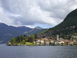 View of Torno in Spring Sunshine, Lake Como, Lombardy, Italian Lakes, Italy, Europe Photographic Print by Peter Barritt