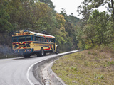 Chicken Bus on Way to Chichicastenango, Guatemala, Central America Photographic Print by Antonio Busiello