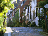 View Along Cobbled Mermaid Street, Rye, East Sussex, England, United Kingdom, Europe Photographic Print by Stuart Black