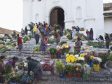 Chichicastenango Market, Chichicastenango, Guatemala, Central America Photographic Print by Antonio Busiello