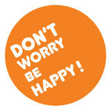 Don't Worry Be Happy wandtattoos