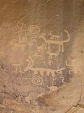 Petroglyphs, Chaco Culture Nat'l Historical Park, UNESCO World Heritage Site, New Mexico, USA Fotografie-Druck von James Hager