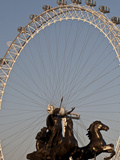 Statue of Boudicca and the London Eye, London, England, United Kingdom, Europe Photographic Print by Sara Erith