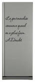 La gourmandise commence quand on a plus faim Wall Decal by Alphonse Daudet
