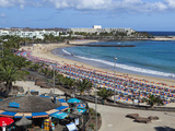 Playa de Las Cucharas, Costa Teguise, Lanzarote, Canary Islands, Spain, Atlantic, Europe Photographic Print by Stuart Black