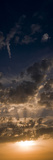 Sunset Sky, Large Format Vertical Panoramic, West Sussex, England, United Kingdom, Europe Photographic Print by Giles Bracher