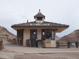Old West Train Station in a Ghost Town, Calico, Yermo, Mojave Desert, California, USA Photographic Print by Antonio Busiello