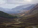 Road Through Glen Docherty, Wester Ross, Highlands, Scotland, United Kingdom, Europe Photographic Print by Jean Brooks
