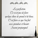 La perfection… Wall Decal by Swami Prajnanpad