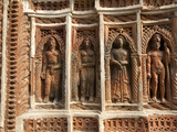 Detail of Carved Rekha Style Facade of Prataspeswar Terracotta Temple, West Bengal, India Photographic Print by Annie Owen