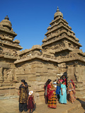 The Shore Temple, Mamallapuram (Mahabalipuram), UNESCO World Heritage Site, Tamil Nadu, India, Asia Photographic Print by  Tuul
