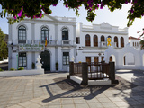 Plaza de La Constitucion and Ayuntamiento (Town Hall), Haria, Lanzarote, Canary Islands, Spain Photographic Print by Stuart Black