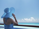 Woman on a Cruise Ship, Nassau, Bahamas, West Indies, Caribbean, Central America Photographic Print by Angelo Cavalli