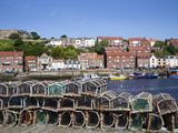 Lobster Pots at Endeavour Wharf in Whitby, North Yorkshire, Yorkshire, England, UK, Europe Photographic Print by Mark Sunderland