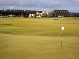Eighteenth Green at the Old Course, St. Andrews, Fife, Scotland, United Kingdom, Europe Photographic Print by Mark Sunderland