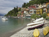 Lakeside View of the Medieval Village of Varenna, Lake Como, Lombardy, Italian Lakes, Italy, Europe Photographic Print by Peter Barritt