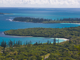 View over the Ile Des Pins, New Caledonia, Melanesia, South Pacific, Pacific Fotografisk trykk av Michael Runkel