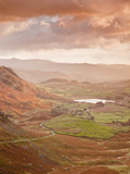 Looking Down Wrynose Pass to Little Langdale in Lake District National Park, Cumbria, England Photographic Print by Julian Elliott