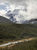 Snow-Covered Mountains Among Clouds, Banff Nat'l Park, UNESCO World Heritage Site, Alberta, Canada Photographic Print by James Hager