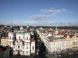 St. Nicholas Church from Town Hall Tower, Prague, Czech Republic, Europe Photographic Print by  Godong