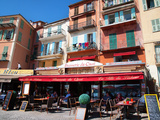 Facade of Restaurants, Villefranche, Alpes-Maritimes, Provence-Alpes-Cote D'Azur, French Riviera Photographic Print by Adina Tovy