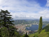 View of the City of Como from Brunate, Lake Como, Lombardy, Italian Lakes, Italy, Europe Photographic Print by Peter Barritt